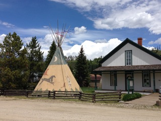 new teepee at Cozens Ranch Museum