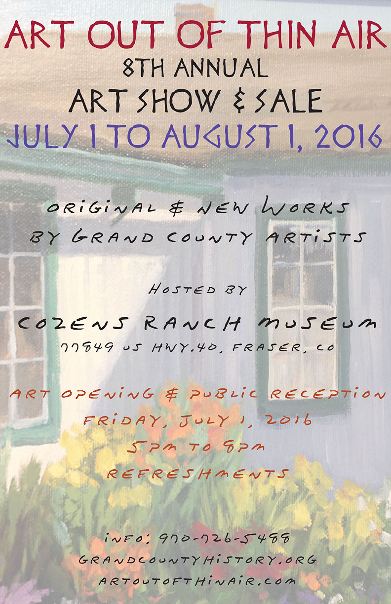 art out of thin air art show grand county history